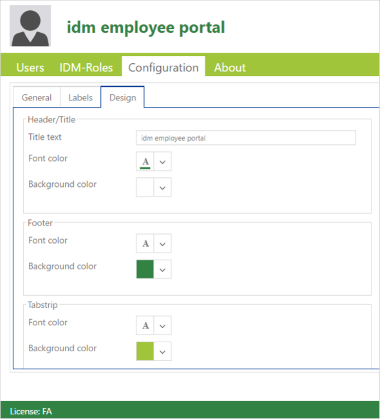 IDM-Portal SmartEdition Design options
