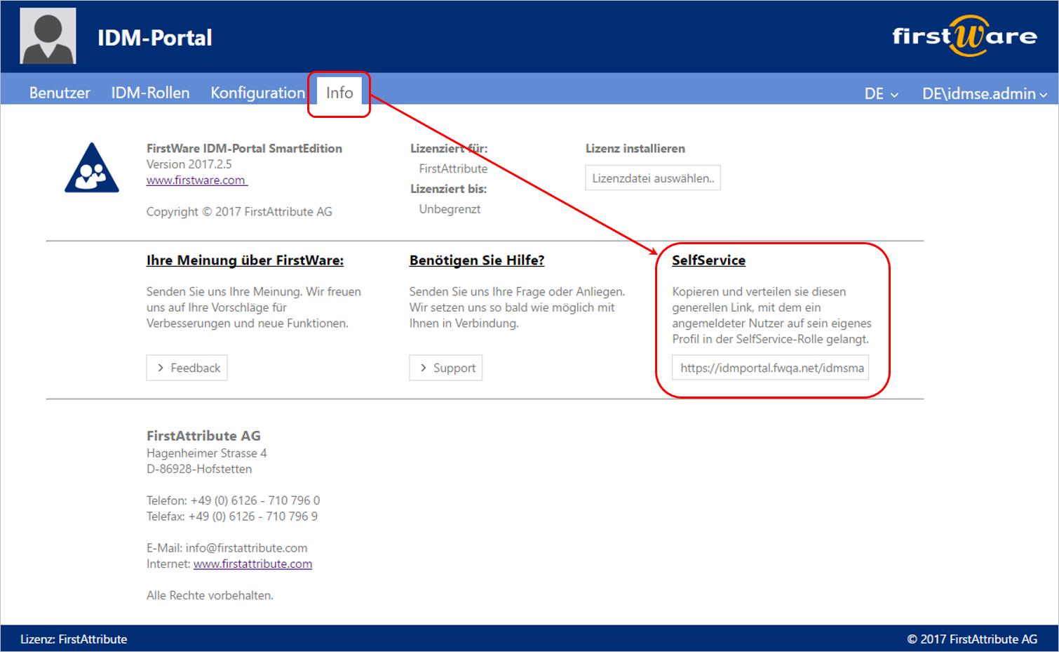 Active Directory Self Service Link