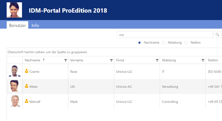 IDM-Portal ProEdition 2018 Anwendersicht
