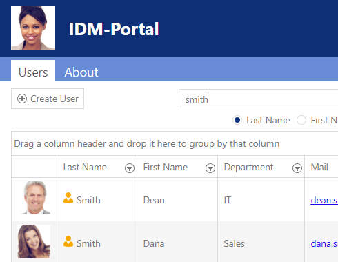 Find colleagues with IDM-Portal