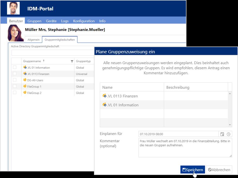 Firstware IDM-Portal: Genehmigung Gruppenmitgliedschaften