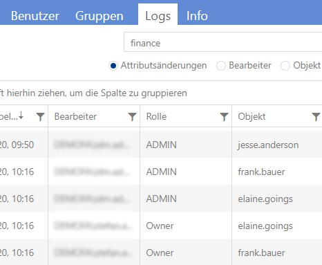 Audit-Logging für Identity Access Management