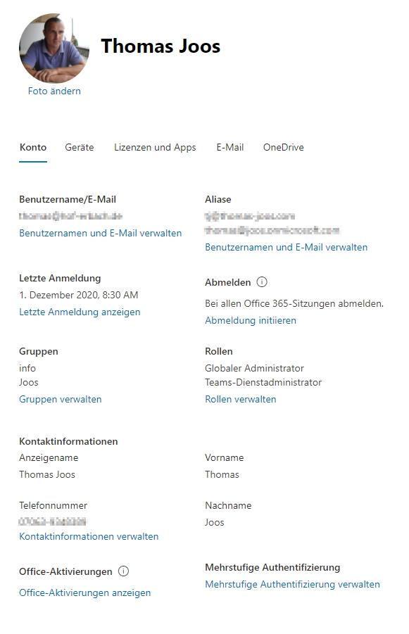 Azure AD für den Einsatz mit Microsoft 365 verwalten