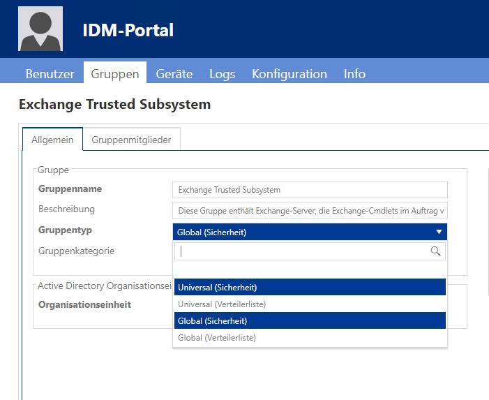 Gruppen können Sie im IDM-POrtal jederzeit bearbeiten