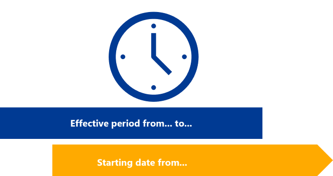 Approval workflow -Set time periods or starting dates in IDM-Portal