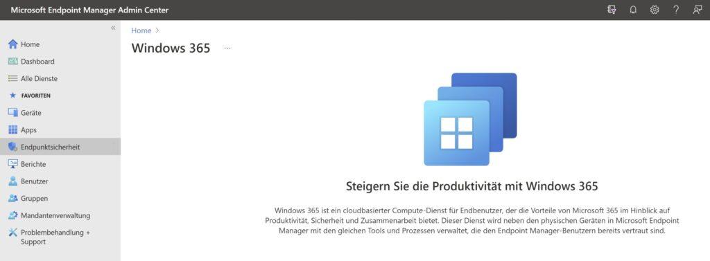 Windows 365 und Microsoft Endpoint Manager